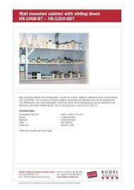data sheet wall mounted cabinet with