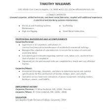 Journeyman Carpenter Resume – Ahlussunnah.info