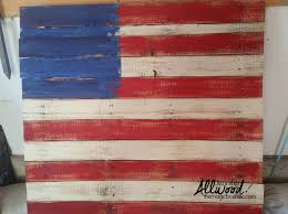 pallet flag painted