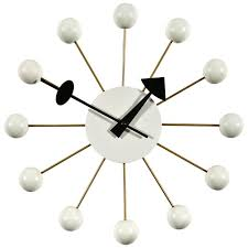 ball clock in white by george nelson for the vitra design museum for
