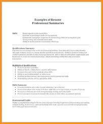 8 9 Summary Of Qualifications Resumes Wear2014 Com