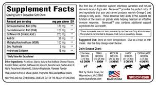 Fish Oil Dosage Chart For Adults Benecoat Fish Oil For Dogs Contains Krill Oil Epa Dha Collagen Msm And Zinc Picolinate
