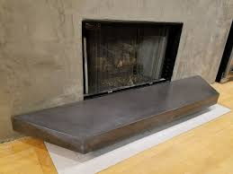 picture of gfrc floating concrete hearth for concrete wood fireplace