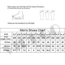 Foot Length To Shoe Size Chart Size Chart Usshoes