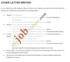 cover letter writing tips letter format  resume