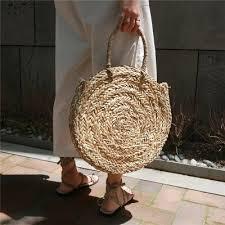 <b>2018</b> Brand New <b>Bohemian Straw Bags</b> for Women Big Circle ...