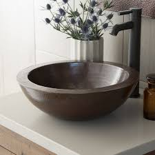 laguna copper bathroom vessel sink  native trails