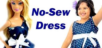 how to make an easy no sew no sew dress for barbie and you