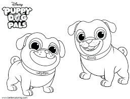 Bingo And Rolly Puppy Dog Pals Coloring Pages Free Arf Bob From P