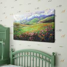 Wall Paintings For Living Room Aliexpresscom Buy Hand Painting Spring Blossoms Natural