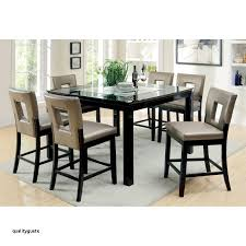 furniture of america vanderbilte 9 piece gl inlay counter height dining set black