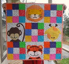 15 best jungle baby handmade images on Pinterest | Jungles ... & Zoe's Jungle Quilt by skovy - from Quilts, Bibs, Blankies...Oh Adamdwight.com