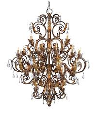 wrought iron crystal room chandelier