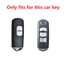 <b>Carbon Fiber Pattern Silicone</b> Car Key Fob Cover Cases For Mazda ...