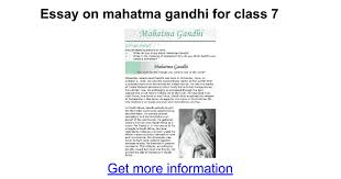 essay on mahatma gandhi for class google docs