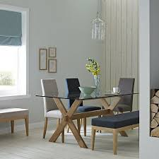 john lewis gene 6 seater rectangular dining table gl at johnlewis