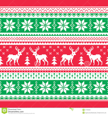 christmas sweater print background. Interesting Christmas Red And Green Xmas Seamless Background With Reindeer  Nordic Style And Christmas Sweater Print Background T