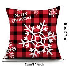 45 45cm snowflake pillowcase