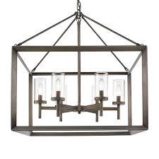 golden lighting 2073 6 gmt 6 light chandelier metal bronze clear glass