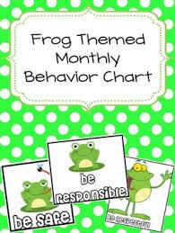 Frog Themed Behavior Chart Frog Themed Monthly Behavior Charts Editable