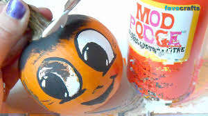 Small Pumpkin Painting How To Paint Pumpkin Faces Youtube