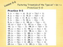pages quadratic test review answer key
