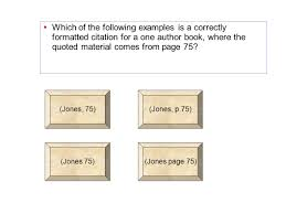 Mla Internal Citation Exercises With Answers Simple In Text