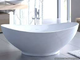 oval freestanding tub acrylic