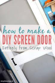 how to build a diy wooden screen door tutorial
