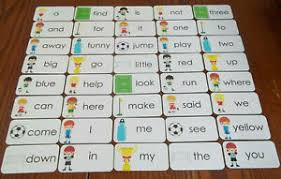 Details About Soccer Themed Dolch Pre Primer Sight Word Flash Cards Laminated Preschool Readi