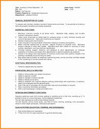 7 Inventory Control Resume Samples Laredo Roses