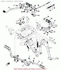 yamaha rd schematic yamaha rd350 1973 1975 stand footrest brake pedal schematic