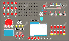 Game User Interface Templates Pack Of Graphical User Interface