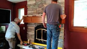 Railroad Tie Mantle fireplace mantel installation time lapse youtube 5482 by guidejewelry.us