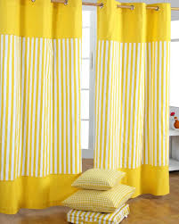 ... Yellow Striped Shower Curtain Fabric SMLF ...