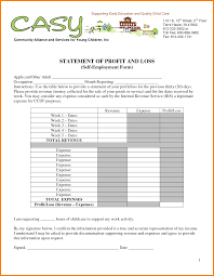 7 Profit And Loss Statement Self Employed Case Teplates