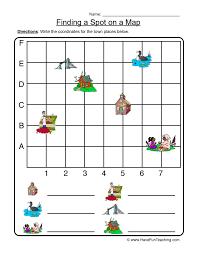 Finding a Spot on a Map - Coordinate Map Worksheet 1
