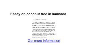 essay on coconut tree in kannada google docs