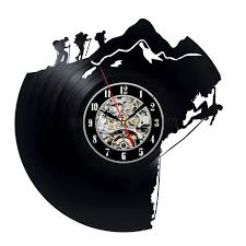 Record Gifts Decorative Unique Vinyl Record Wall Clock Gift For Climbers