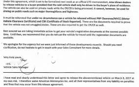 Lto Paperwork Required Before Driving New Vehicle Driving And The