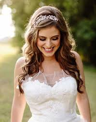 best down bride hairdos long hair