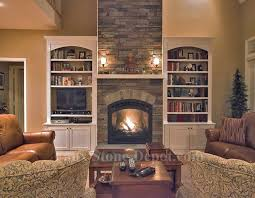 faux stone fireplaces contemporary family room