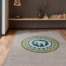 sy elephant area rug abstract modern design gray 7 6 x 9 frees home bird rugs
