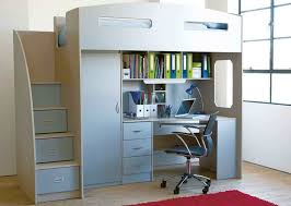 Odyssey Space Saver bunk bed. Steps instead of ladders, which are also  drawers. Desk, shelves, drawers and wardrobe. Hole in the end for natural  li