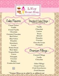 Cake Flavors And Fillings Livaysweetshop Cakecuttingguide Livay
