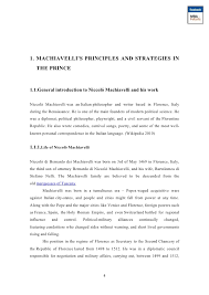 Machiavelli Essay Thesis College Paper Example 2598 Words