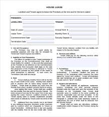 house rental agreement sample free 10 house lease agreement templates in google docs ms