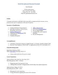 Hotelt Desk Agent Resume Examples Hoteleceptionistesume Sample