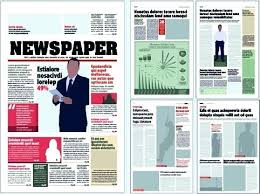 Newspaper Template Psd Free Newspaper Template For Photoshop