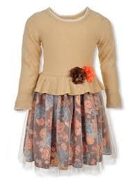 Bonnie Jean Girls Sweater Flounce Dress